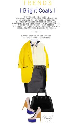 """Bright Coats"" by cutekawaiiandgoodlooking ❤ liked on Polyvore"