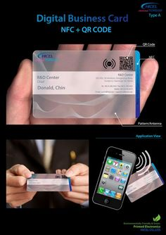 Korean comapny Hicel, a manufacturer of components for plasma display panels and liquid crystal displays, has produced the worlds first mass produced NFC Business card. Click through for more info. #businesscards #technology #nfc #printdesign
