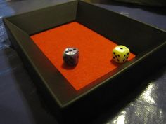 Dice tray - felt in dollar picture frame