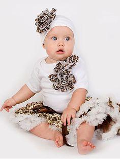 Cheetah Baby Tutu Set