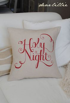 Bed pillow Holy Night printed or painted