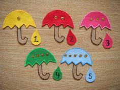 Umbrella Felt Board Story