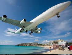 Up close with an Air France A340-313X - where else but St. Maarten