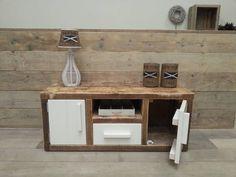Thuis on pinterest teak old pallets and furniture for Meuble tv joris