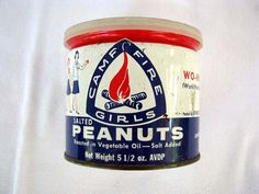 Camp Fire Girls Peanuts Tin