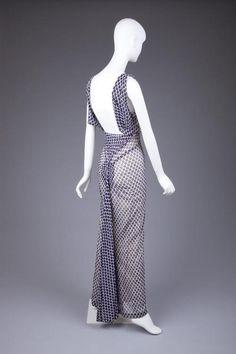 1934 Dress by Elsa Schiaparelli, via The Goldstein Museum of Design.
