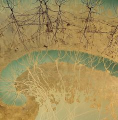 Greg Dunn. Hippocampus II (detail), 2010, 42 x 42 in. The artist paints neurons in the Asian sumi-e style.