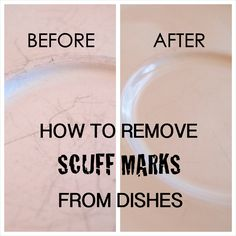 How to Remove Scuff Marks from Dishes
