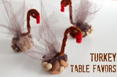Turkey Table Favors