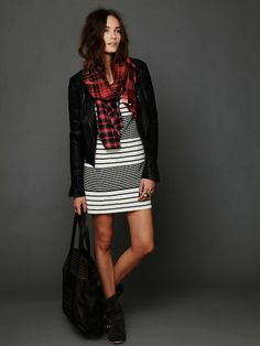 Free People Striped Bodycon Dress at Free People Clothing Boutique