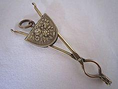 Antique Victorian {1800s} Brass Skirt Lifter-Flowers | eBay