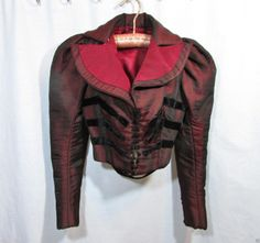 Silk 1890s Bodice with Coordinating Riding Style Jacket Custom Made | eBay