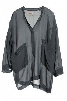Humanoid Glynn top chiffon silk mist