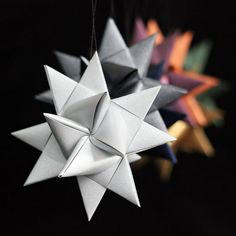 German Paper Star folding tutorial -- I remember making these with my grandmother as a child.