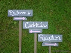 Grey Wedding Signs Directional Arrow Sign 3 by TRUECONNECTION, $89.00