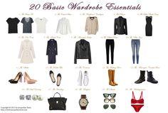 20 Basic Wardrobe Essentials