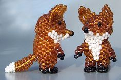 3D Fox Beading Pattern by Ruth Kiel at Bead-Patterns.com