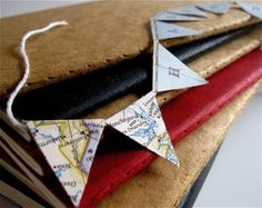 Personalized+Mini+Pennant+Banner+from+Vintage+Maps+by+Palimpsestic,+$10.00
