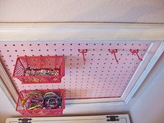 Frugal Home Designs: Peg Board Jewelry Organizer for Kids