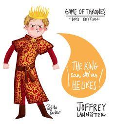 The king can do as he likes! quote by Joffrey Baratheon / Lannister #gameofthrones #joffrey #juego de tronos por Pedrita Parker #illustration www.pedritaparker.com