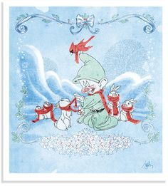 D23.com | The Official Disney Fan Club | 23 Days of Christmas | dopey christmas | snow white and the seven dwarfs christmas