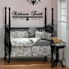 Personalized Little Girls Wall Decal. $33.00, via Etsy.