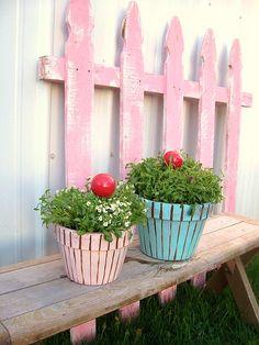 Cute!  Cupcake planter