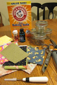 Inspired Whims: Homemade Air Fresheners - love this idea especially.  I buy the baking soda in bulk from Costco.