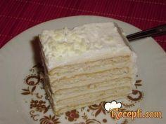 Recept za Belu keks tortu. Za spremanje torte neophodno je pripremiti keks, šlag, mleko, keks, gustin, belu čokoladu, maslac.