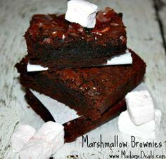 Marshmallow Brownies #Recipes