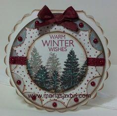 Scallop Christmas Card CTMH created by Maria Saxon www.mariasaxon.com