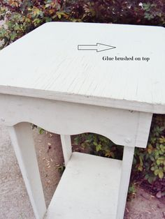 How to get a crackle finish on furniture using glue! via @Deb Keller Farm