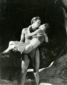 Johnny Weissmuller & Maureen O' Sullivan from Tarzan and His Mate (1934)