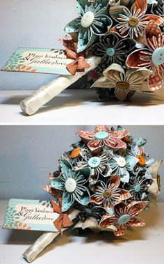 craft, flower bouquets, plant kind, paper flowers, papers, buttons, spring wreaths, flower tutorial, authentiqu paper