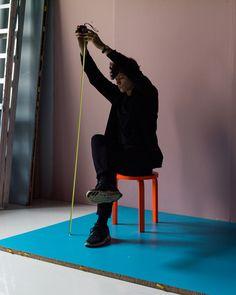 Johannes Romppanen photographs Osma Harvilahti in his studio for Rocket Science