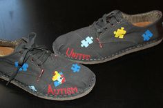 These special addition Autism United shoes would be sure to grab attention for the cause!