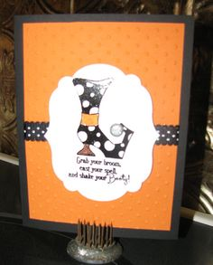 fall stampin up cards | Shake Your Booty Stampin Up Halloween Cards by InkingTreasures