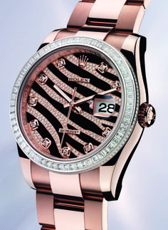 Rose Gold Pink Rolex. I wish!