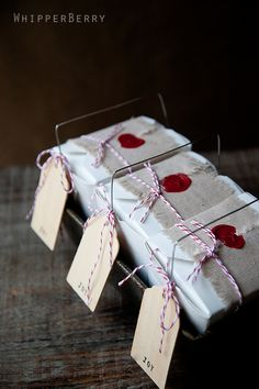 linen + wax seal wrapping
