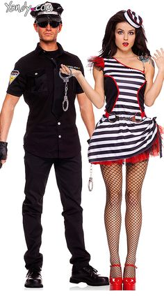 Sexy Officer And Naughty Criminal Couples Costume