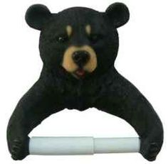 Looking for a toilet paper holder with style...Black bear style? These fun novelty toilet paper holders are perfect for cabins, rustic decor or...