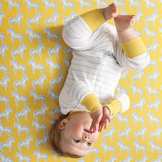 Hanna Andersson Baby Sleeper – Cloud Stripe | Serena & Lily