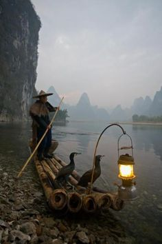 | Chinese fisherman, Yangshou, China via Angela...