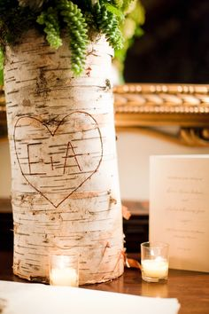 Birch centerpieces