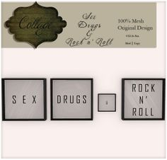 Collage - Sex, Drugs, & Rock n' Roll | Flickr - Photo Sharing!