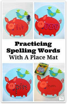 Practicing Spelling Words with a Place Mat