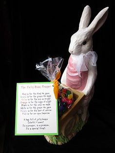 Jelly Bean prayer with printable tag.
