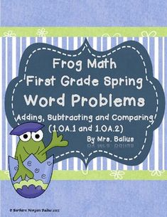 WOW! First Grade Spring Word Problems.  $