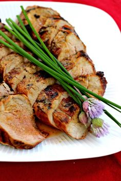 Grilled Ginger Honey Pork Tenderloin