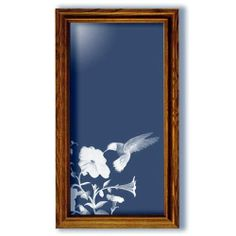 Hummingbird Art Etched Tall Rectangular Mirror